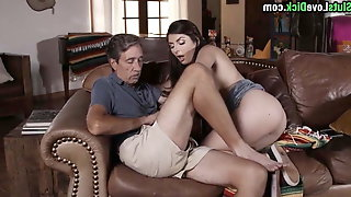 Nancy Rides Her Step Uncles Cock When Everyone Has Left