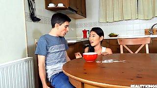Asian Teen Sucks Dick And Swallows Sperm In Hot Home XXX