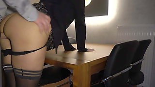 Boss Fucks Secretary Anally On The Table - Business-bitch
