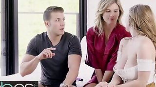 BABES - Dude Scores The Milf And Her Teen Stepdaughter