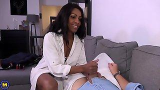 Ebony Stepmom Mrs. Guyana Porn Video