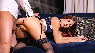 Petite Czech Chick Spreading Legs For Anal Fuck
