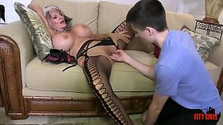 Breasty Cougar Aunt Has Her Teen Nephew Playing With Her Cunny