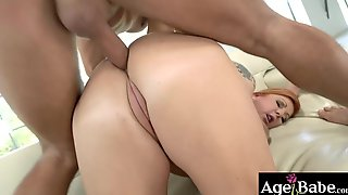 Busty Granny Tammy Likes Taking A Good Dicking On Her Mouth, Pussy, Knockers And ASS!