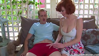 CFNM With A Busty Mature Keen To Swallow