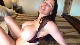 Hot Wife With Fake Monster Tits Gives POV Deepthroat & Titjob