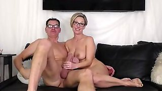 Middle-aged Couple With Glasses Is Making Their First Amateur Sex Video