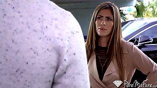 Jaw Dropping Woman Alexa Vega Takes Off Her Coat And Masturbates Pussy
