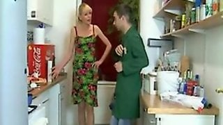 German Nympho Wife Invited A Plumber For Housework And Anal Sex