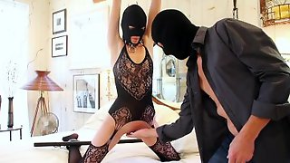 Masked Lovers Are Playing Sex Games Combined With Light BDSM
