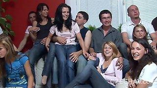 Czech Beauties In Mega Group Sex 1