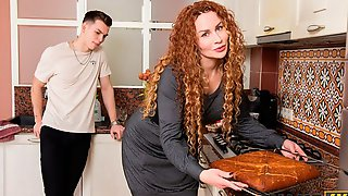 Kinky Redhead Mom In Stockings Impaled From Behind As She Likes