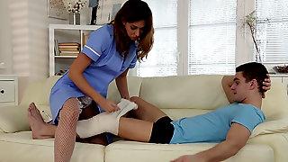 Nurse Ani Blackfox Treats Patient With A Dripping Creampie