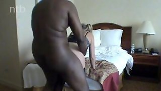 Fat Black Man Fucks Cheating Blonde Housewife In Doggystyle Position