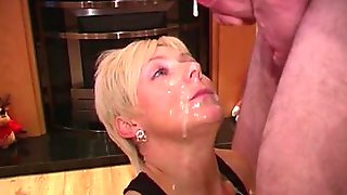 Slutty Mature Woman Is Blow-banged And Bukkaked By Horny Guys