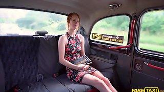 Fake Taxi - Peeping Cabbie Fucks Skinny Redhead 1 - Ariela Donovan