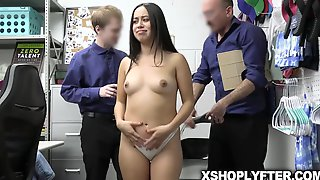 Shoplifting Chick Dania Vegax Got Her PUSSY All FUCKED UP