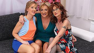 Three Older Ladies Explore Their Sensual Sides - MatureNL