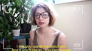 Girl With Glasses Was Easily Aroused And Asked To Start Masturbating