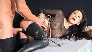 Good-looking Bald Oriental Teenage Gal Rae Lil Black Makes Sensuous Blowjob