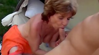 Busty 76 Years Old Mom Celebrates Her Birthday