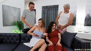 Insolent Women Swap Partners In Amateur Home Foursome