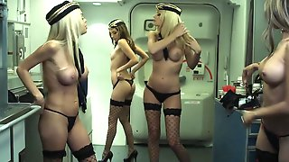 During Flight New Stewardess Makes Move On Eccentric Pilot
