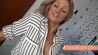 Blonde MILF With Awesome Tits Gets Fucked In POV Video