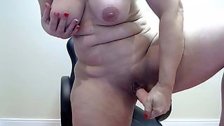 Marcia Wiggles And Masturbates With Dildo In Pussy