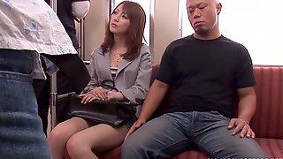 Sexy MILF Takes A Hard Fucking On A Train