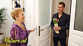 Granny Gets A Firm Cock As A Birthday Present Form A Neighbor