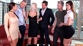 Wife-Swapping Dinner Party With 3 Wild Czech Chicks GP1858