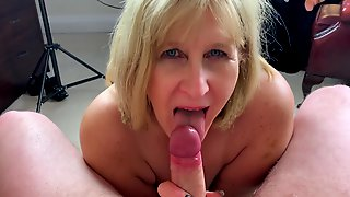Nasty Mature Takes Cock From Behind And Sucks Like A Pro To Receive A Mouthful Of Cum