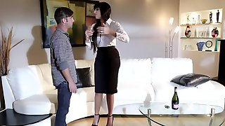 Young Guy Gets Seduced By Friends Horny High-class Mom