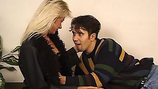 Blonde Cougar Is Undressed And Fucked By Her Horny Stepson