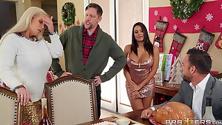 Horny For The Holidays Part 3 - Johnny Castle Ass Fucking Big Booty Latina Babe Luna Star