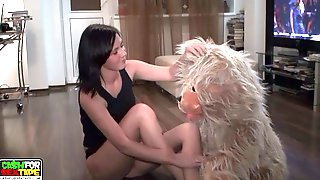 Naked Chick Taking A Soapy Bath After Shaving Her Legs
