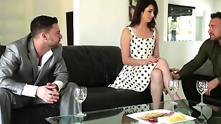 Aspen Ora Rushes To Be Drilled By Seth Gamble And Johnny Castle