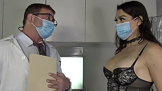 Huge-boobed Trans Babe Moist Examined By Doctor Colby Jansen
