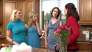 Mature Lesbians Brenda James And Sarah Shevon In The Kitchen