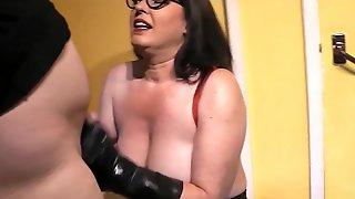 Fucking & Sucking Cock In Black Latex Gloves Pt1 - JuiceyJaney