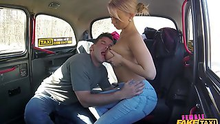 Female Fake Taxi - Big Breasted Driver Rides Prick 1 -