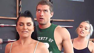 Reality Sex In Gym Spotting Her Ass Xander Corvus, Romi Rain