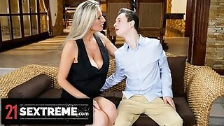 21Sextreme Mature Step-MILF Gives Hands-On Fucking Tutorial On Stepsons Huge Dick