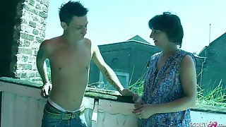 Crazy Step Son Seduce German Mother To Fuck On Balcony
