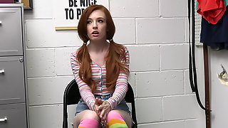 Horny Redhead Teen Madi Collins Ends Up Gets Caught On Camera Stealing Candy