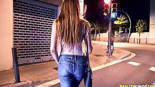 Slim-bodied Hooker With Natural Tits Fucks Stranger On The Street