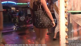 Night Out Clubbing With Sexy Honeys Showing Boobs In Public