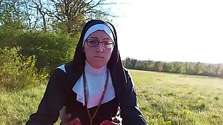 This Nun Gets Her Booty Filled With Cum Previous To That Babe Goes To Church !!