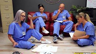 Colleagues Wont Let Noob Nurse Get Banged In Piece